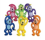 Assorted Inflatable Neon Monkeys (1/pkg)