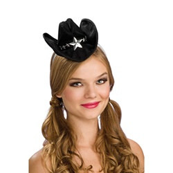 Mini Black Cowboy Hat