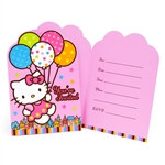Hello Kitty Invitations (8/pkg)