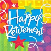 Happy Retirement Beverage Napkins (16/pkg)