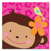 Monkey Love Beverage Napkins (16/pkg)