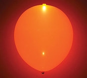 Glow Orange Latex Balloon
