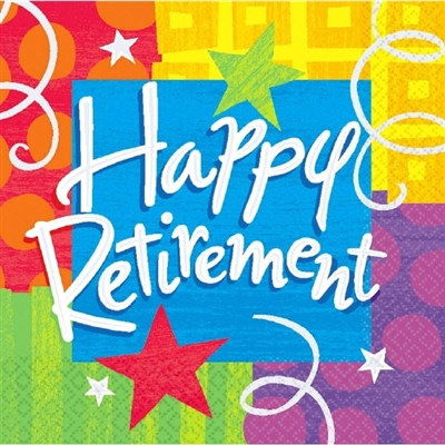 Happy Retirement Lunch Napkins (16/pkg)