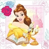 The Beauty and the Beast Luncheon Napkins will tame any mess at your child's next birthday party. These 2-ply paper napkins feature an image of Belle and Lumiere. Each package contains sixteen 12-7/8 inch square napkins.
