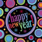 Happy New Year Dots Lunch Napkins (16/pkg)