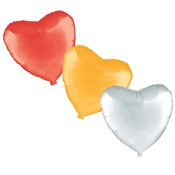 Heart Shaped Metallic Mylar Balloon