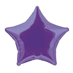 "The Purple Foil Star Balloon 20"" is made of foil and measures 20 inches when fully inflated. Contains one per package. Fill with helium."