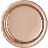 The Rose Gold Dinner Plates are made of coated paper and measure 9 inches. They have a beautiful metallic finish giving them a shiny appearance. Contains 8 plates per package. *Do not microwave
