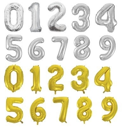 The Foil Balloon Numerals - Your Choice allows you to showcase your creativity by choosing the 34-inch number and color combination needed for your specific event. Whether it's birthday, graduation, or anything else represented by numbers. Ships flat.