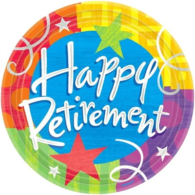 Happy Retirement Dessert Plates (8/pkg)