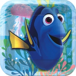 © Disney/Pixar Finding Dory Square Plates 7 inches (8 per package)