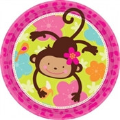 Monkey Love Lunch Plates (8/pkg)