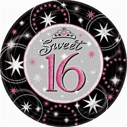 Sweet 16 Sparkle Prismatic Lunch Plates (8/pkg)