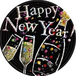 Happy New Year Champagne Bubbles Prismatic Lunch Plates, 9 Inches, (8/pkg)