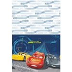 The Cars 3 Tablecover will protect your tables from spills and messes during your child's next birthday party. The plastic cover features those lovable racing characters from the Disney movie series. Rectangle cover is 54 by 96 inches. 1 per package.
