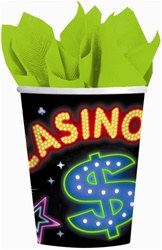Neon Casino Hot/Cold Cups (8/pkg)