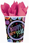 Happy New Year Dots Hot/Cold Cups (8/pkg)