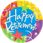 Happy Retirement Lunch Plates (8/pkg)