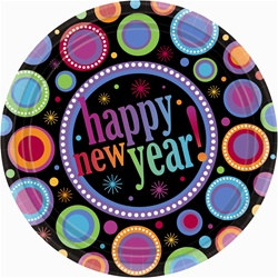 Happy New Year Dots Lunch Plates (8/pkg)