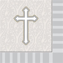 Cross Beverage Napkins (16/pkg)