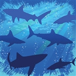Shark Beverage Napkins (16/pkg)