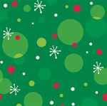 Polka Dot Christmas Beverage Napkins