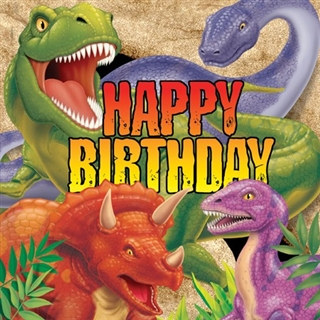 Dino Blast Birthday Lunch Napkins (16/pkg)