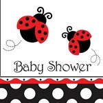 Ladybug Baby Shower Lunch Napkins (16/pkg)