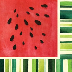 Watermelon Treat Luncheon Napkins (18/pkg)