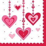 Heart Dazzler Lunch Napkins (18/pkg)