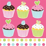 Cupcake Lunch Napkins