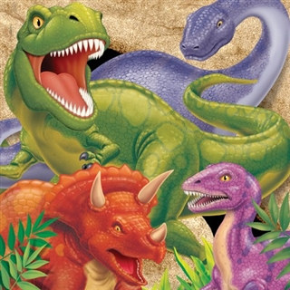 Dino Blast Lunch Napkins (16/pkg)