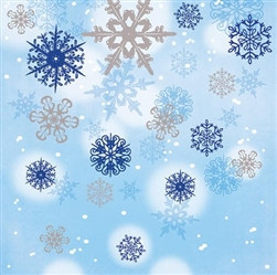 Shimmering Snowflakes Lunch Napkins (16/pkg)
