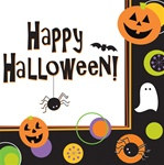 Halloween Dots Lunch Napkins (50/pkg)