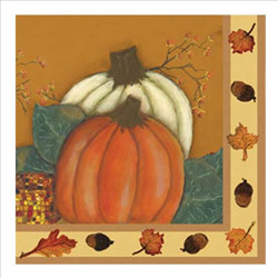 Harvest Gourds Lunch Napkins, 12 7/8 Inches, 16/pkg