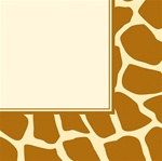 Giraffe Print Lunch Napkins