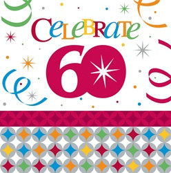 Birthday Celebration 60th Lunch Napkins (16/pkg)
