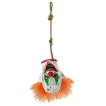 This Creepy Carnival Clown Hanging Head will certainly terrify anybody with a fear of clowns! A large plastic hook pierces the neck and mouth, with a piece of rope looped securely around the end of the hook for easy hanging. Lifelike painted rubber.