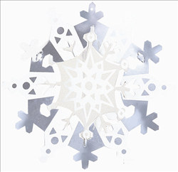Let It snow Mini 3-D Foil Hanging Decorations (8/pkg)