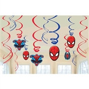 Spider-Man Value Pack Foil Swirl Decorations (6/pkg)