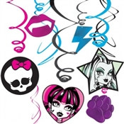 Monster High Foil Swirl Decorations (6/pkg)