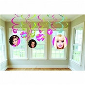 Barbie Value Pack Foil Swirl Decorations (6/pkg)