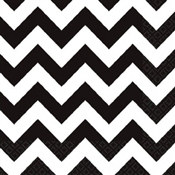 Black and White Chevron Beverage Napkins (36/pkg)