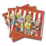 Big Top Circus Beverage Napkins (16/pkg)