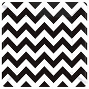 Black and White Chevron Lunch Plates (18/pkg)