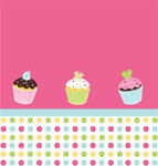 Cupcake Plastic Tablecover