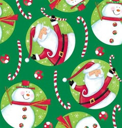 Polka Dot Christmas Plastic Tablecover