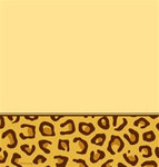Leopard Print Plastic Tablecover