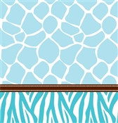 Blue Baby Safari Shower Tablecover