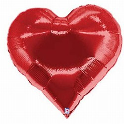 Casino Heart Mylar Balloon